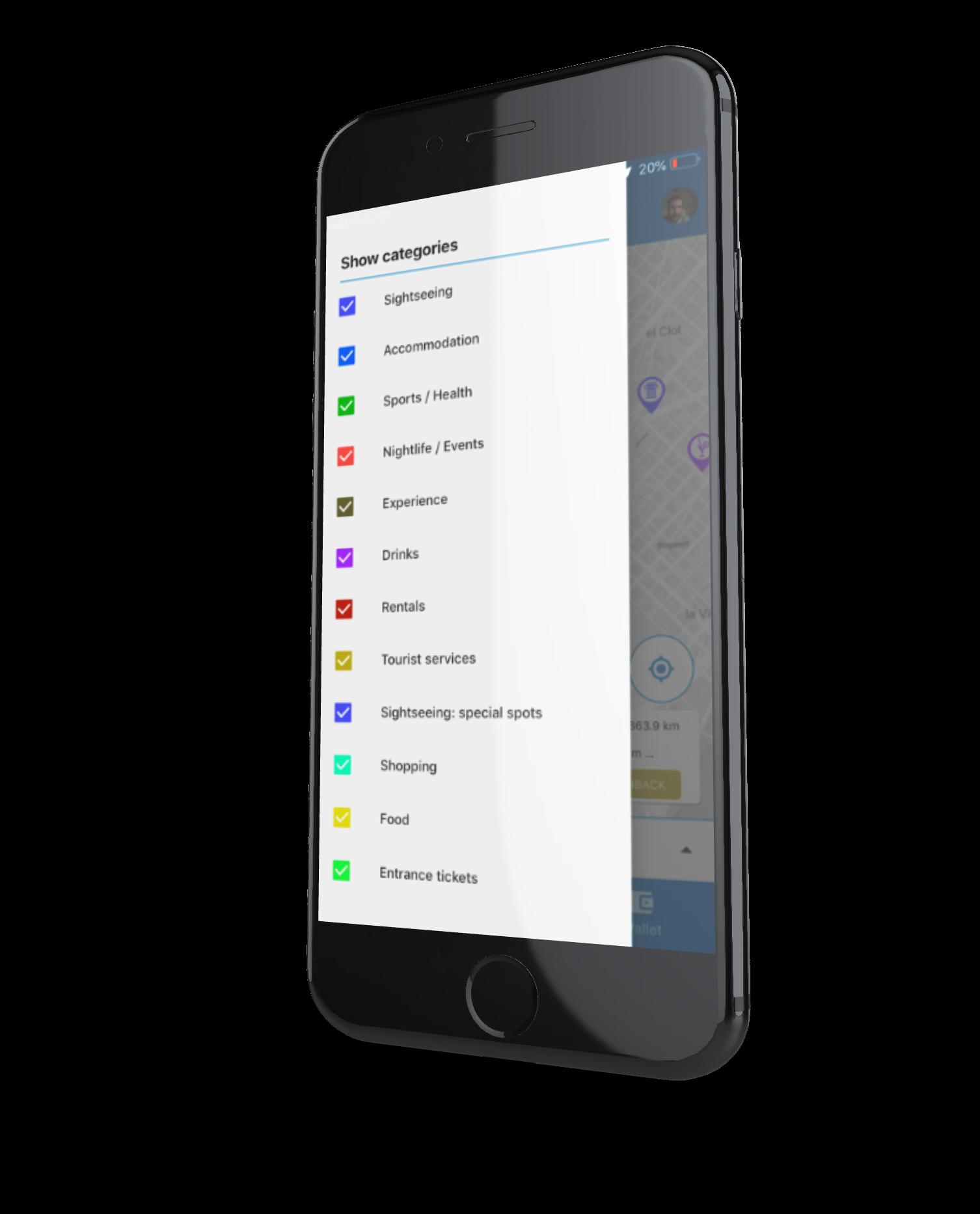 Mobile app & website <br> for your destination